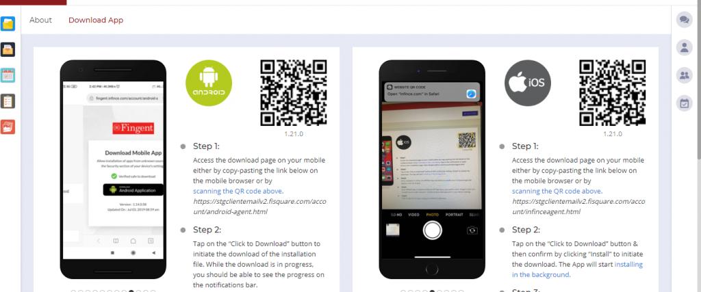Download InfinCE Mobile App