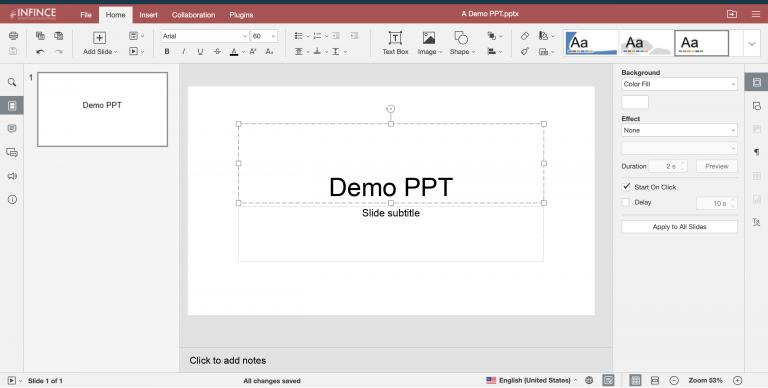 Editing a Presentation