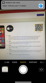 Scan QR Code to initiate installation
