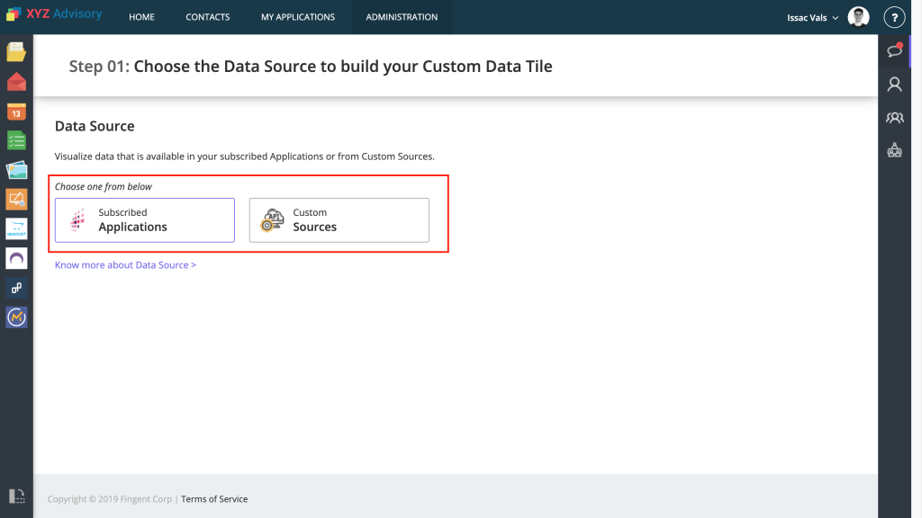 Step 01: Choose Data Source