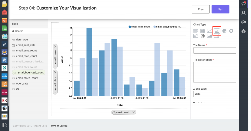 Configuring the Visualization in Step 04